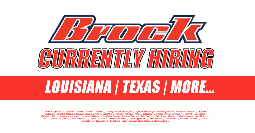 Brock Group is Currently Hiring | Industrial Job Shop