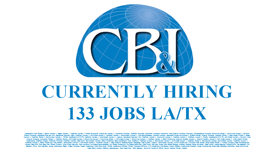 CB&I Currently Hiring 133 Jobs