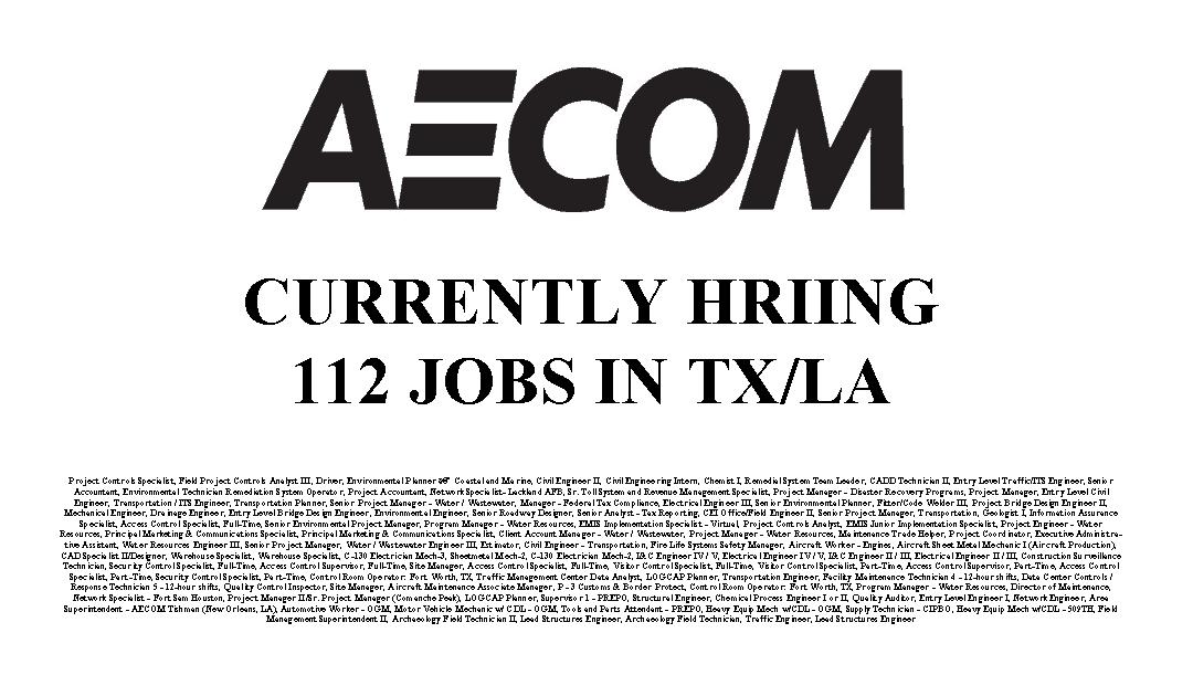 Aecom's Hiring | Industrial Job Shop
