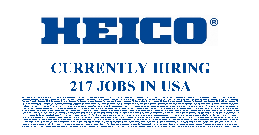 HEICO Corporation is Hiring 217 Jobs Available